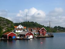 Port tranquille en Norvège Image stock