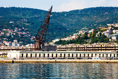 The port of Trieste. Sea and landscape. Royalty Free Stock Images