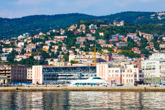 The port of Trieste. Sea and landscape. stock images