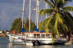 Port tropical de début de la matinée Photographie stock
