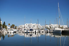 Port in Tunis Royalty Free Stock Photography