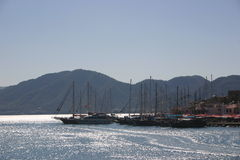 Port, Turkey. Marmais, port Stock Images