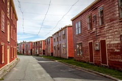 Port Union. Street in the historic village Port Union, Newfoundland royalty free stock image