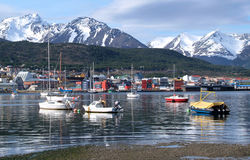 The port of Ushuaia. View of the port of Ushuaia, Tierra del Fuego, Patagonia (Argentina Stock Photos