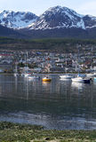 The port of Ushuaia. View of the port of Ushuaia, Tierra del Fuego, Patagonia, Argentina Stock Image