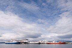 Port at Ushuaia. The Southermost City in the World Royalty Free Stock Photography