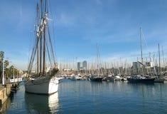 Port of Vaella of Barcelona Stock Image