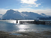 Port of Valdez. Alaska at dusk Royalty Free Stock Photography