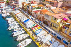 Port in Vallon des Auffes, Marseilles Royalty Free Stock Images