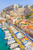 The port in Vallon des Auffes, Marseilles Royalty Free Stock Image