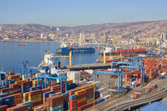 Port of Valparaiso Royalty Free Stock Images