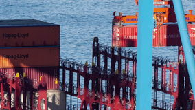 Port of Valparaiso, Chile stock video footage