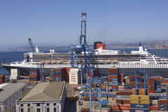Port of Valparaiso, Chile. Stock Photos