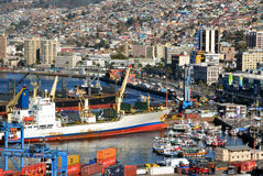 Port of Valparaiso, Chile Royalty Free Stock Photography