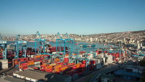 Port of Valparaiso, Chile. View of the Port of Valparaiso, Chile stock video