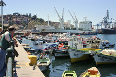 Port of Valparaiso Stock Photography