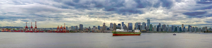 Port of Vancouver BC Panorama Stock Photos
