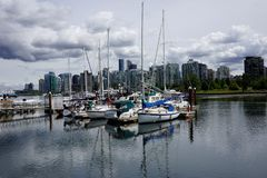 Port in Vancouver stock photos