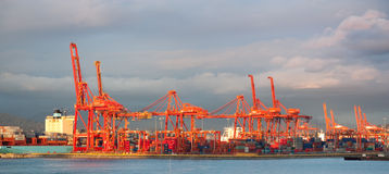 Port of Vancouver Cargo Cranes Royalty Free Stock Photos