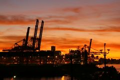 Port of Vancouver at Sunset Royalty Free Stock Photos