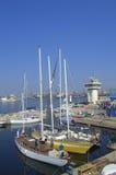 Port Varna, Bulgarie de yacht Photos libres de droits