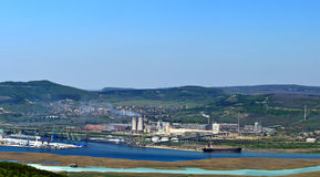 Port Varna - West. Factories that pollute the environment near Varna Stock Photos