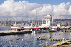 Port Varna with yachts,  Bulgaria Stock Photography