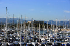 Port Vauban in Antibes Stock Photo