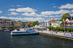 Port of Vaxholm, Sweden Stock Image