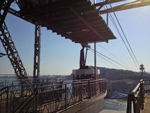 Port Vell Aerial Tramway Stock Image