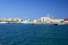 Port Vell in Barcelona. Royalty Free Stock Images