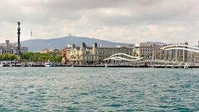 Port Vell at Barcelona. Coastline Stock Images