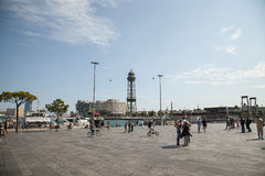 Port Vell, Barcelona stock images