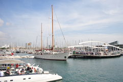 Port Vell at Barcelona Stock Images