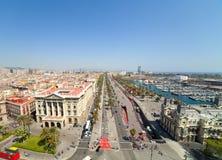 Port Vell. Barcelona, Spain. Wide angle shot of Port Vell. Barcelona, Spain royalty free stock photos