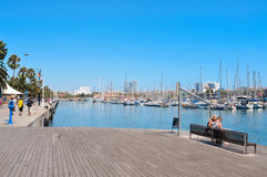 Port Vell in Barcelona, Spain Stock Image