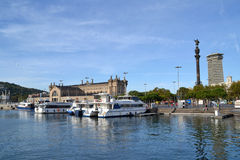 Port Vell in Barcelona, Spain Royalty Free Stock Photography