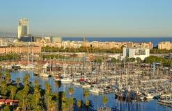Port Vell in Barcelona, Spain Stock Images