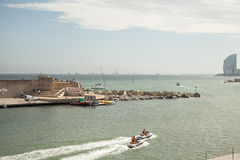 Port Vell, Barcelona - Spain royalty free stock photography