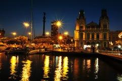 Port Vell in Barcelona, Spain Stock Photos