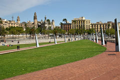 Port Vell in Barcelona, Spain. Impression of Port Vell, Maremagnum and the harbor, in Barcelona, Spain Stock Image