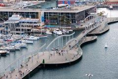Port Vell in Barcelona Stock Image