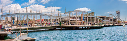 Port Vell in Barcelona Royalty Free Stock Photography