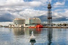 Port Vell in Barcelona Stock Images