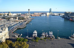 Port Vell in Barcelona, Spain Royalty Free Stock Images