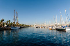 Port Vell, Barcelona. stock image