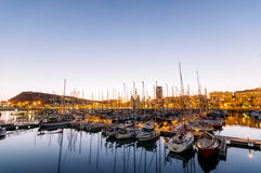 Port Vell, Barcelona. stock images