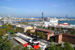 Port Vell in Barcelona, Spain Stock Images