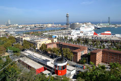 Port Vell in Barcelona, Spain Stock Photos