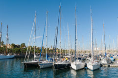Port Vell, Barcelona. royalty free stock images